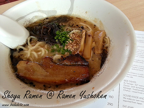 Ramen Yushoken at Molito, Alabang