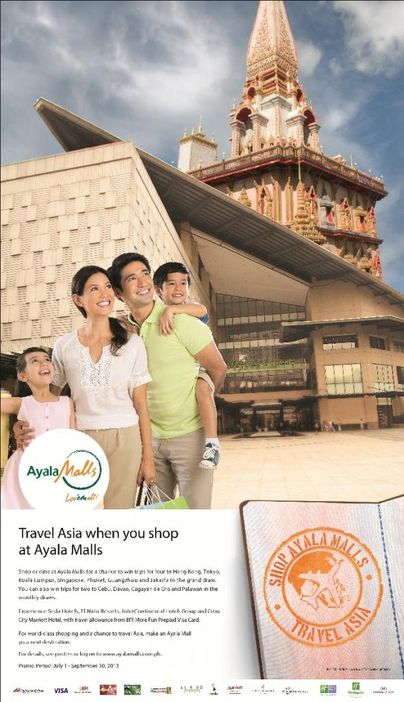 Shop at Ayala Malls and Travel Asia