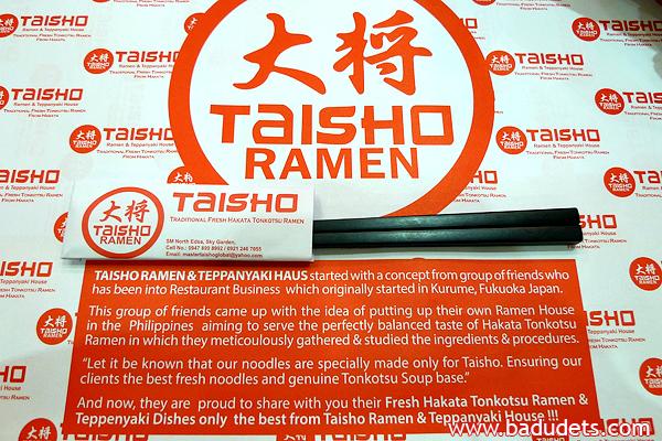 Taisho Ramen at SM Sky Garden