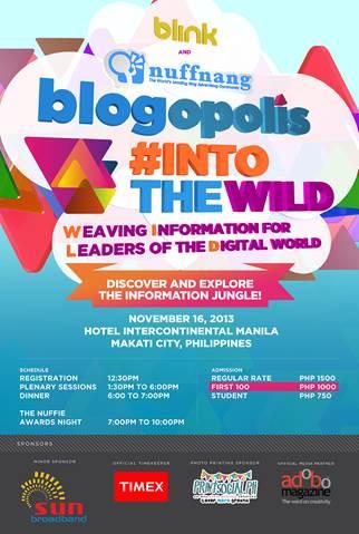 Nuffnang Blogopolis 2013: #IntoTheWild