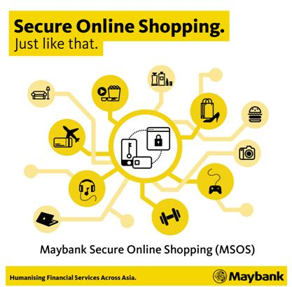 Secure online shopping with Maybank Credit Card's MSOS