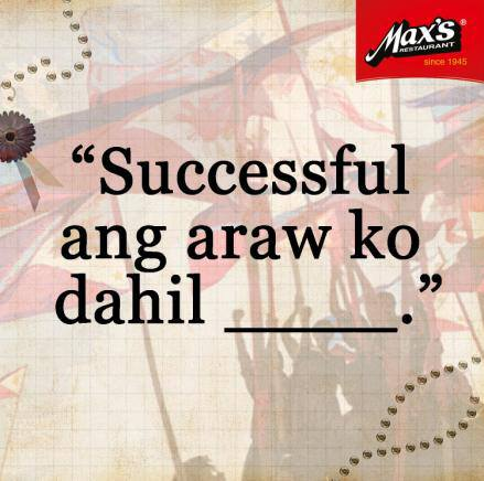 Celebrate your #SarapNgSuccess story with Coco Martin and Max's Restaurant