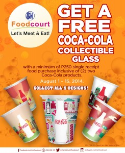 SM Food court Coca Cola collectible glass