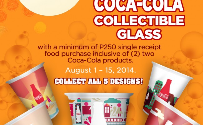 Free Coca-Cola Collectible Glass at SM Food Court