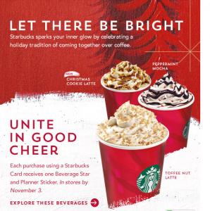 starbucks christmas drinks 2015