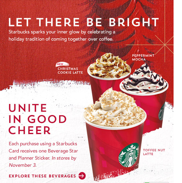 starbucks christmas drinks 2015