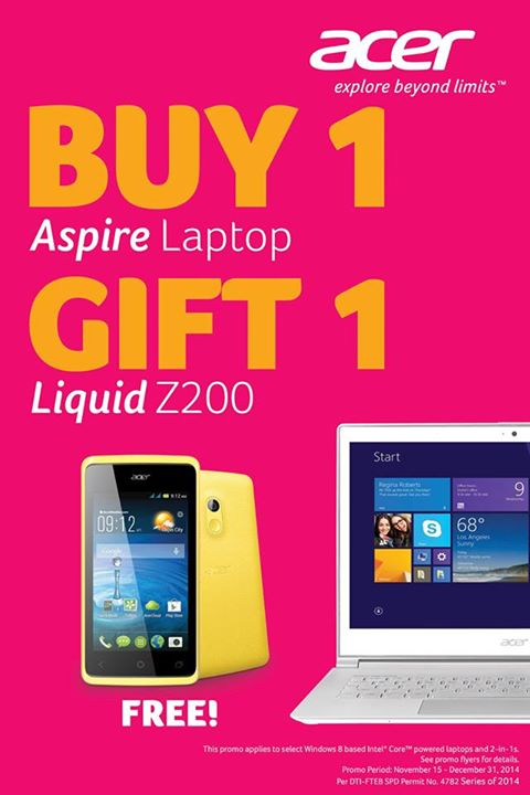 Buy a laptop, get free smartphone from Acer