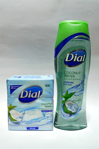 Tropical shower experience with Dial Coconut Water Soap and Body Wash