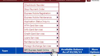 bpi express assist online