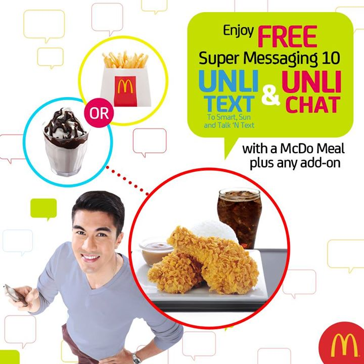 free unli text and unli chat from mcdo