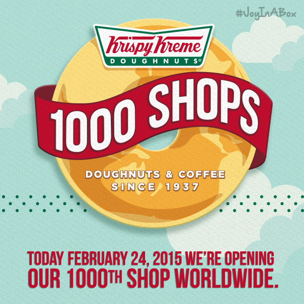 Krispy Kreme opens 1000th store, FREE doughnuts today!