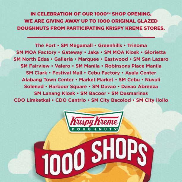 krispy kreme stores with free doughnuts