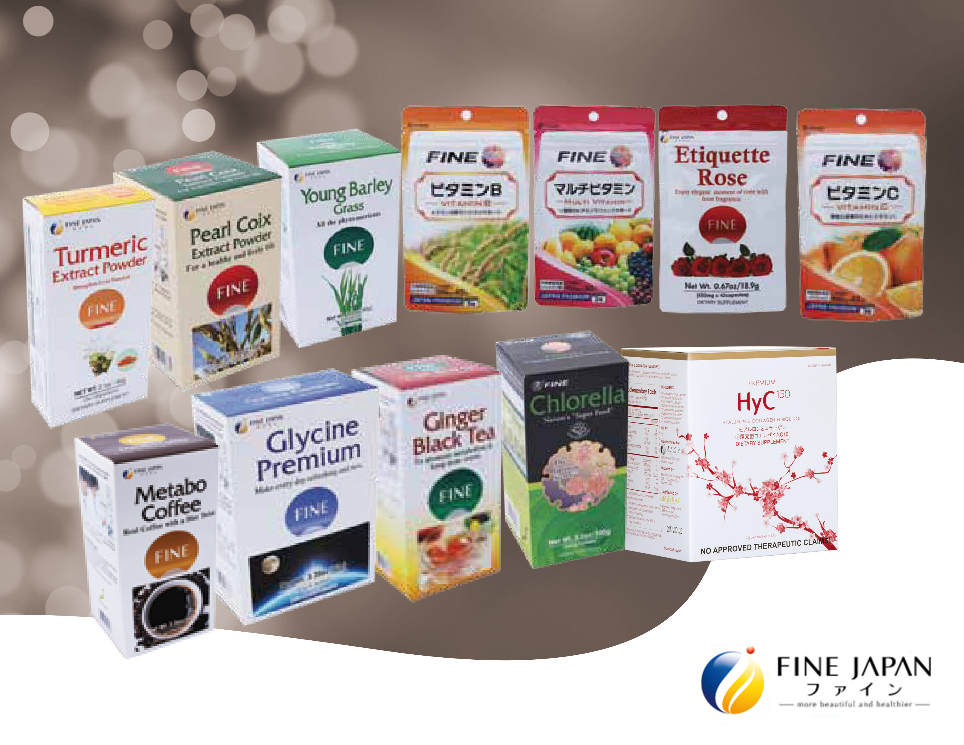 A finer life with Fine Japan Co. Ltd.'s beauty and wellness food supplements