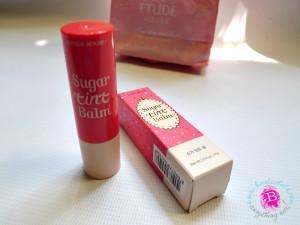 etude house sugar tint balm pink macaron