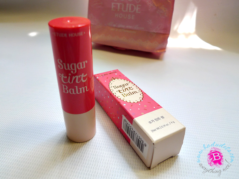 Etude House Sugar Tint Balm in Pink Macaron – a review