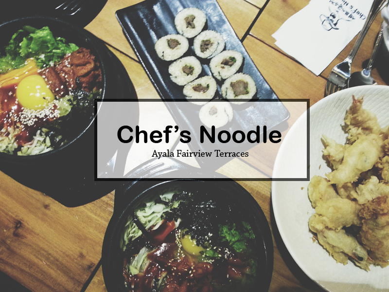 Chef's Noodle opens at Ayala Fairview Terraces