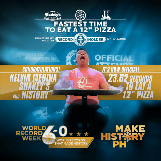 Shakey's Philippines Conquers the Guinness World Records