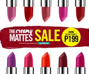 maybelline creamy matte lipstick sale