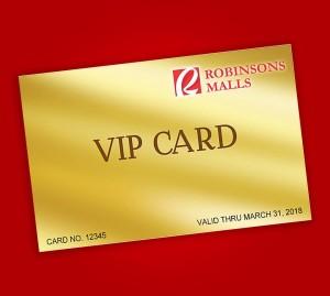 robinsons malls VIP Gold Card
