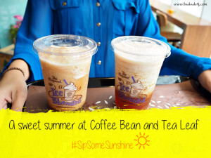 coffee bean and tea leaf sweet teas