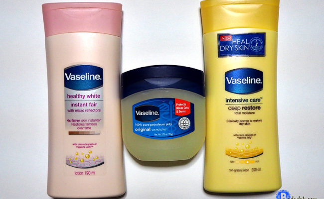 Heal dry skin with Vaseline Lotion with Vaseline Jelly