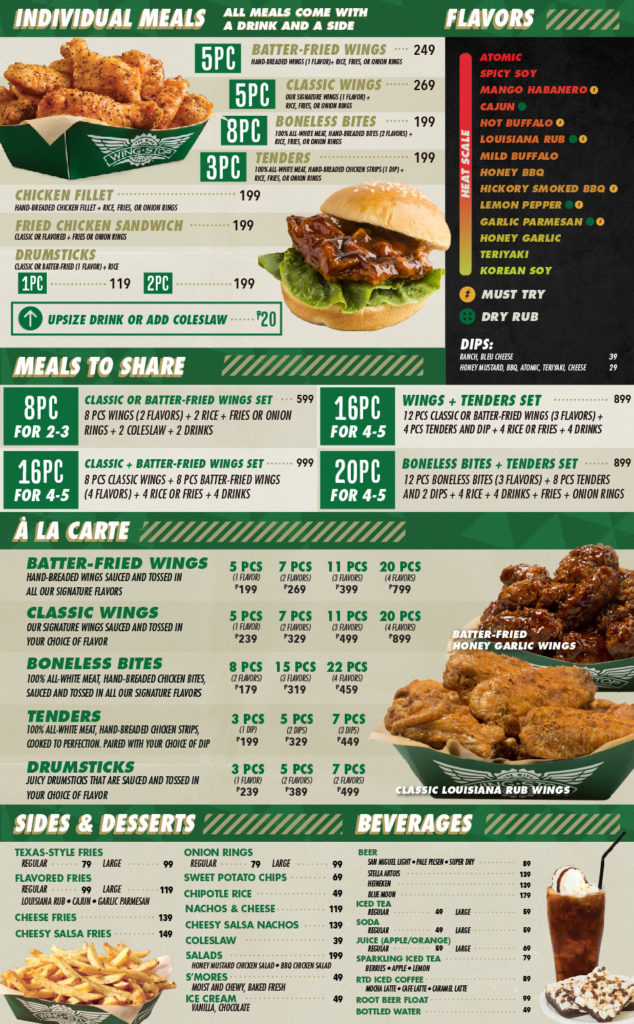 It's just a photo of Gorgeous Wingstop Printable Menu