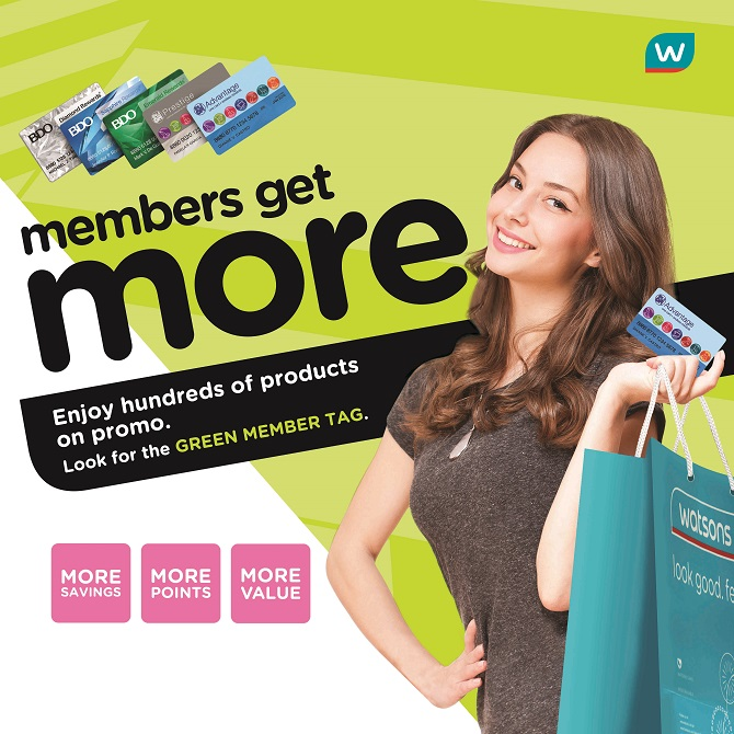 Members Get More at watsons