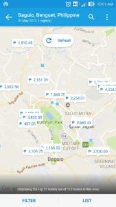 Traveloka map search