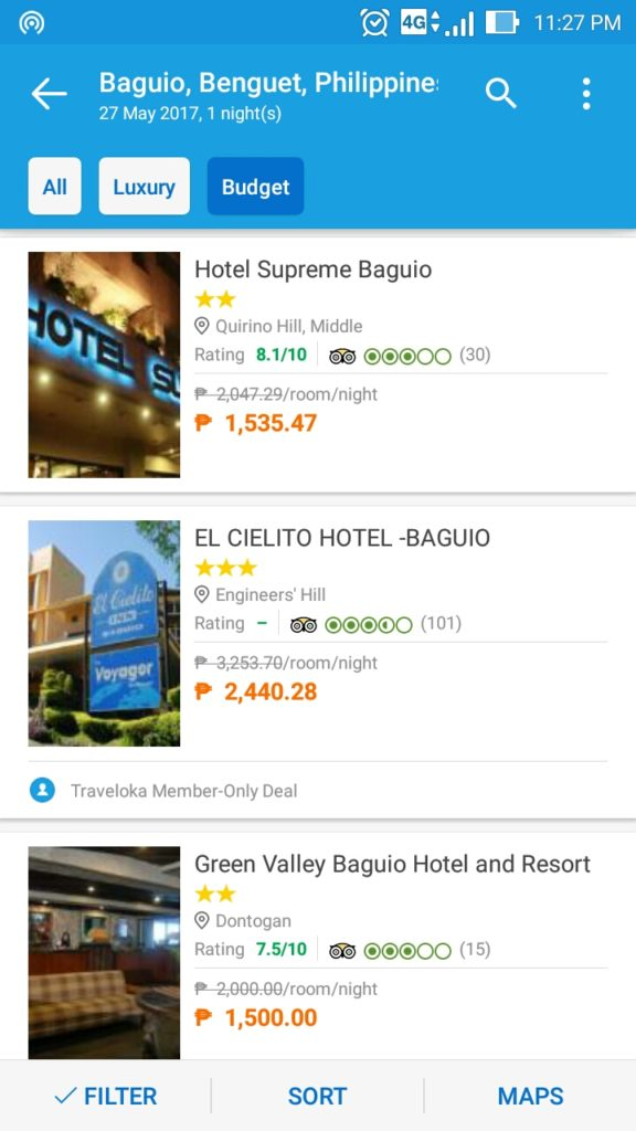 traveloka app screenshot