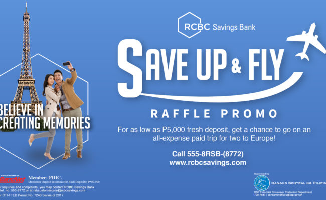 Get Your Dream European Vacation with RSB's Save Up and Fly Promo