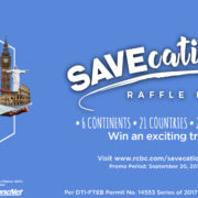 RCBC presents the SAVEcation of a lifetime!