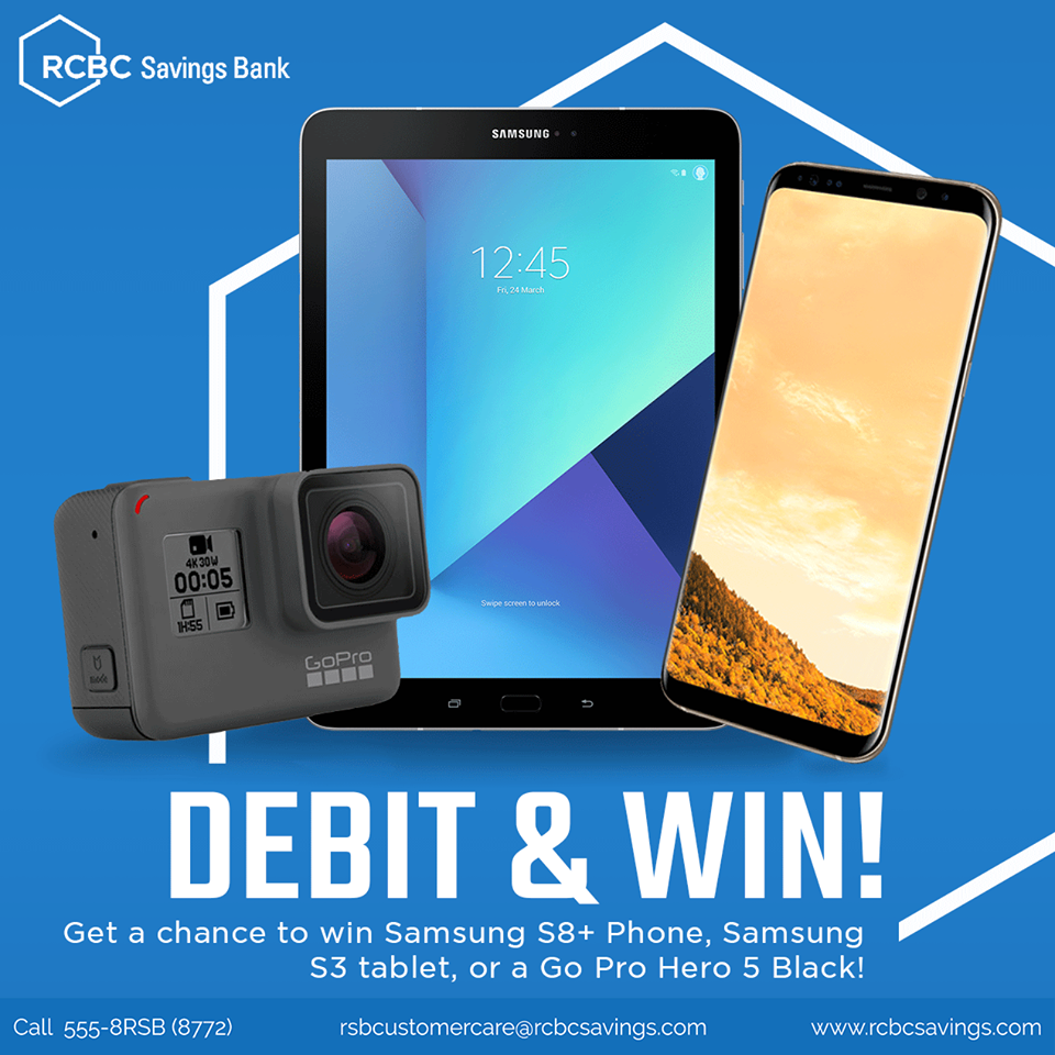RCBC Savings bank Debit and Win