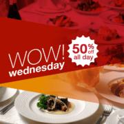 Eatigo's WOW Wednesday: 50% off All Day on April 18