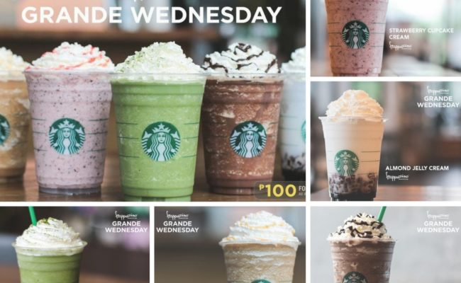 Starbucks Frappuccino for only 100 pesos!