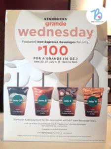 starbucks grande wednesday iced espresso