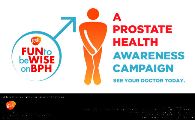 GSK's FUN to be WISE on BPH advocacy for Prostate Health Awareness