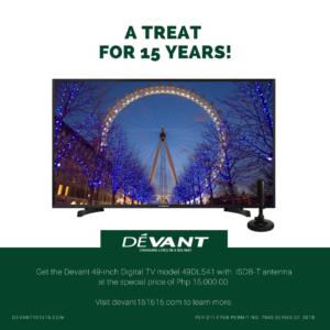 devant 49 inches digital tv promo