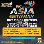 Win a free trip to Bangkok, Tokyo, or Hong Kong thru the BIC Amazing Asia Getaway!