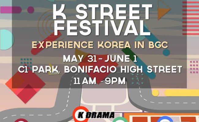 Enjoy all things Korean at BGC's K-Street Festival!