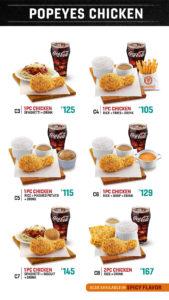 popeyes ph chicken menu