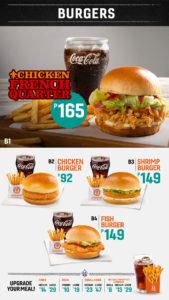 popeyes philippines menu burgers
