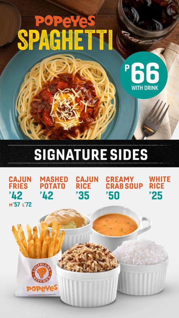 popeyes spaghetti