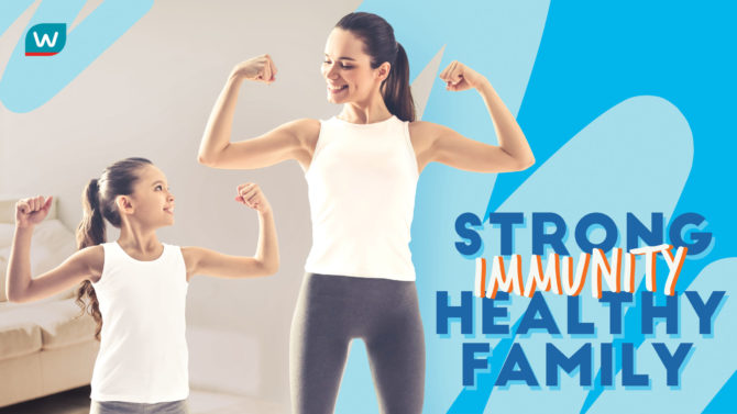 Stong Immunity, Healthy Family with Watsons
