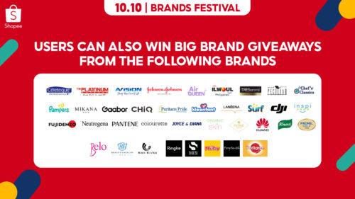 10.10 Launch PR Shopee Big Brand Giveaways